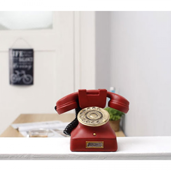 [2HOT] 엔틱 레드 전화기 대 미니어쳐